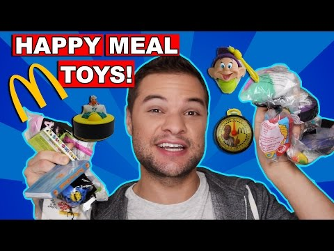 Happy Meal Toys  (Opening Retro 90's McDonalds Toys) - Toy Commercial Commentary
