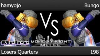 MNM 198 - FX | hamyojo (Sheik) vs RB | Bungo (Sheik) Losers Quarters - Melee