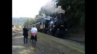 preview picture of video 'ČSD 434 2186 departs from Vrané nad Vltavou to Dobříš'