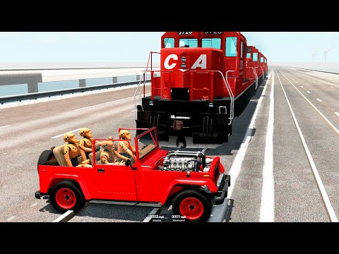 Train Accidents #26 - BeamNG.Drive   CrashTherapy