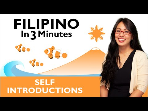 Learn Filipino - Filipino in Three Minutes - How to Introduce Yourself ...