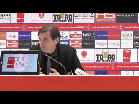 Sala stampa Triestina - Padova: Carmine Gautieri