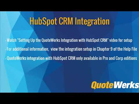 How to Use the HubSpot CRM Integration - Quotewerks