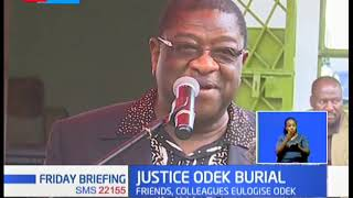 Court  appeal judge Justice Otieno Odek has been laid to rest at his home in Rarieda