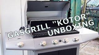 NEU: Gasgrill Tarrington House KOTOR GD4815S-D - Unboxing, Aufbau, Test - 4 Brenner + Seitenbrenner