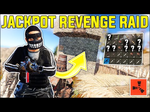 The JACKPOT REVENGE RAID on TOXIC ROOFCAMPERS! - Rust Gameplay Ep 6