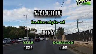 Joy - Valerie KARAOKE