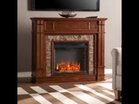FE9321: Highgate Faux Granite Media Center Electric Fireplace Product Video