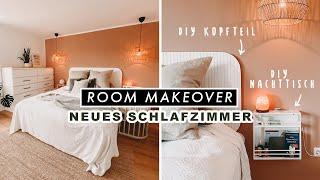 SCHLAFZIMMER MAKEOVER + DIY Nachttisch & Bett Kopfteil   EASY ALEX