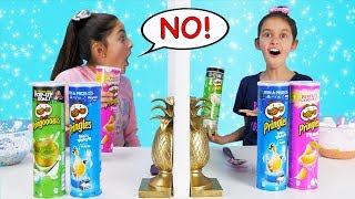 Twin Telepathy 3 Colors of Glue PRINGLES SLIME Challenge!!!!