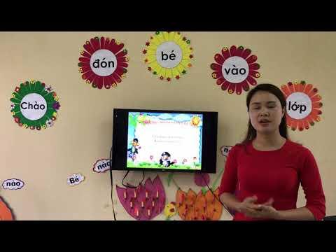 Cô Lê Quỳnh dạy trẻ bốn nhóm chất dinh dưỡng cần thiết cho cơ thể