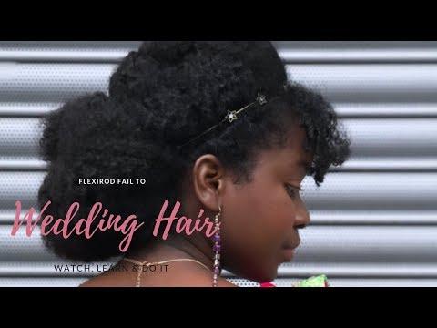 Wedding Hair Makeover - Flexi Rod Fail