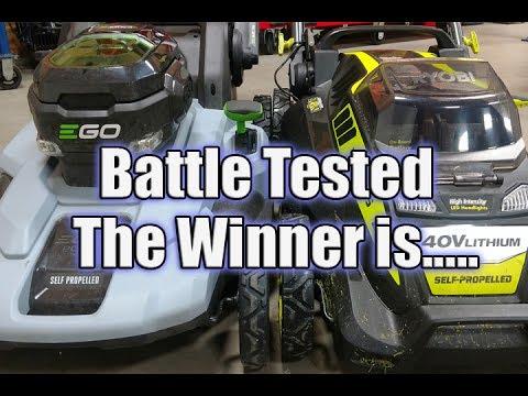 Ryobi Vs Ego | Battle of Self Propelled Battery Mowers