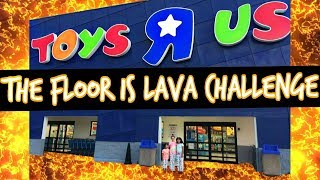 The Floor Is Lava Challenge At Toys R Us