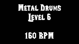 Metal Drums Level 6 (160 BPM) FREE DRUM TRACK