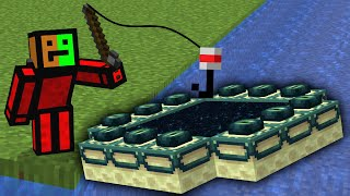 Minecraft But You Can Fish Structures...