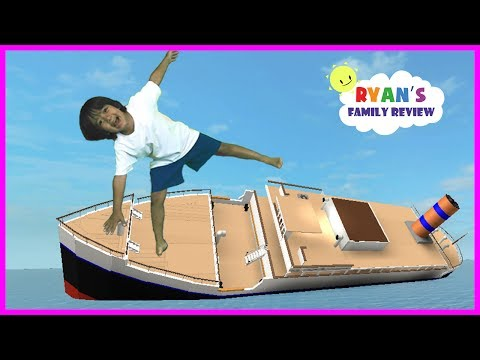 ROBLOX Sinking Ship! Let's Play Family Game Night with Ryan's Family Review