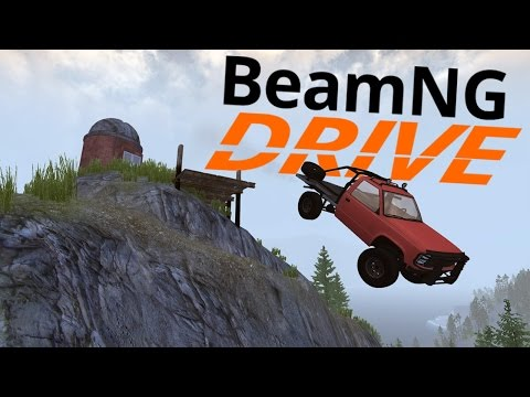 BeamNG Drive - Huge Offroad Stunts - Lizardback Trail  (BeamNG Drive Gameplay Highlights)