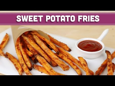 Video How To Make CRISPY Baked Sweet Potato Fries, Healthy Recipe! Mind Over Munch