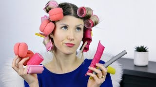 BEST & WORST NO HEAT Hair ROLLERS | TESTING ALL HAIR CURLERS I HAVE | Dove Sorys