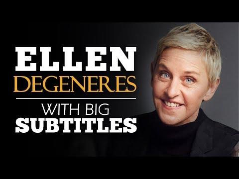 ENGLISH SPEECH   ELLEN DEGENERES: Be True To Yourself (English Subtitles)