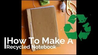DIY Recycled Notebook
