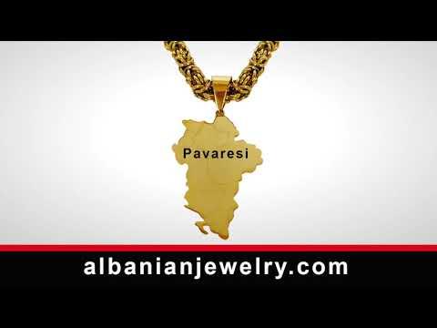 Chaîne d'aigle albanais avec gravure