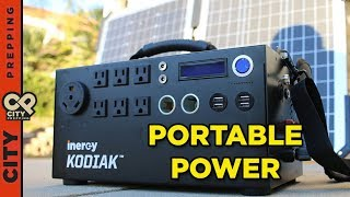 How to get unlimited power after SHTF: Solar Generator (Inergy Kodiak)