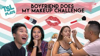 TSL Plays: Extreme Boyfriend Does My Makeup Challenge