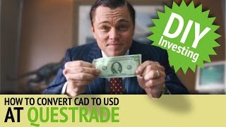 Norbert's Gambit at Questrade | DIY Investing with Justin Bender