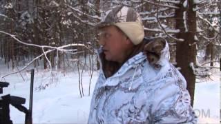 Смотреть онлайн Зимняя охота на волков с флажками