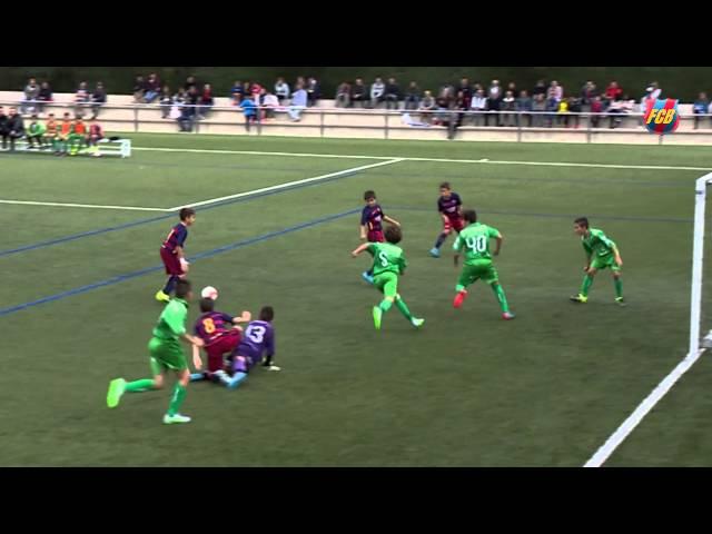 أشبال برشلونة يبدعون في تسجيل هدف رائع