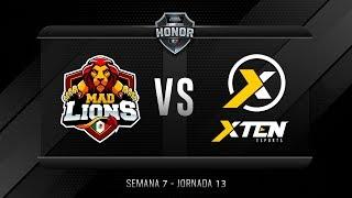 Mad Lions E.C. México VS XTEN ESPORTS MX | Jornada 13 | División de Honor 2019 - Apertura
