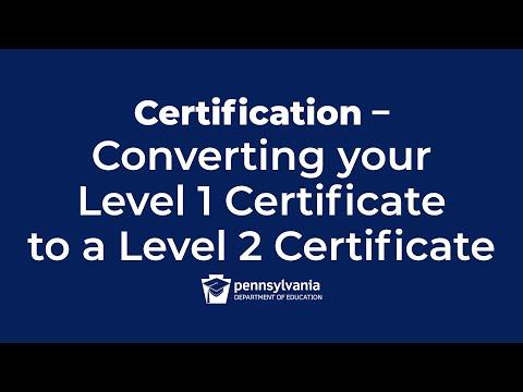 Converting a Level I Certificate to a Level II Certificate - YouTube