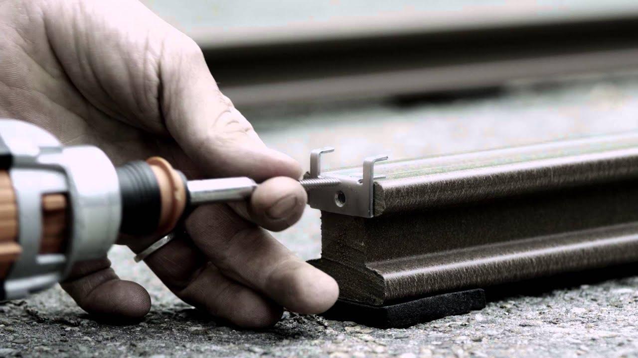 Verlegefilm zur einfachen Handhabung der Terrassendielen
