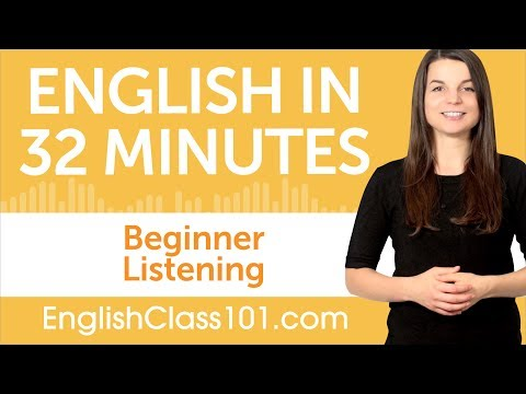 32 Minutes of English Listening Practice for Beginners - YouTube