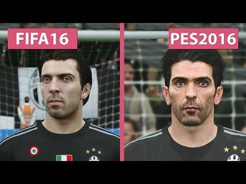 FIFA 16 vs. PES | Pro Evolution Soccer 2016 Graphics Comparison PC [FullHD][60fps]