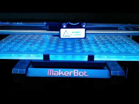 The Makerbot Replicator 2 in action