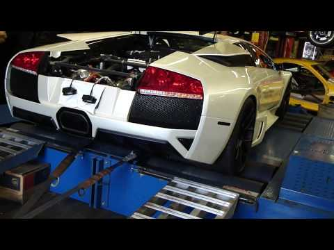 Unbelievable Lamborghini Murcielago Twin Turbo Dyno Pull