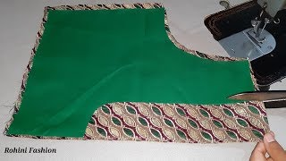 Rohini Fashion - Very simple and easy blouse back neck lace