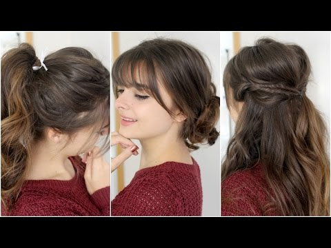 Cute, Easy Hairstyles With Bangs | Tutorial Mp3
