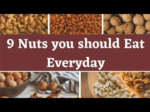 9 nuts you should eat || Different nuts and their benefits || Health|| Fitness.