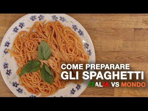 Come PREPARARE gli SPAGHETTI - ITALIA vs MONDO