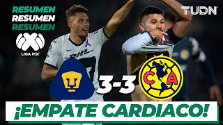Resumen y Goles | Pumas 3 - 3 América | Liga Mx Clausura 2020 - Jornada 9 | TUDN