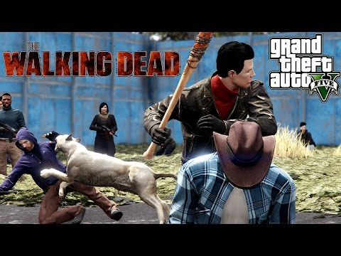 THE WALKING DEAD 7X16 - ALL OUT WAR (GTA V)