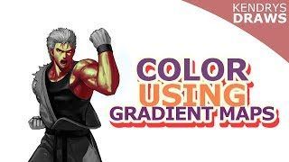 How to COLOR using GRADIENT MAPS- Clip studio paint