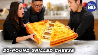 I Made A Giant 20-Pound Grilled Cheese For HellthyJunkFood • Tasty