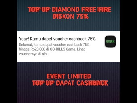 🔴TOP UP FREE FIRE DISKON 75% DAN DAPAT CASHBACK | LIMITED EVENT | NO CLICKBAIT  | 100% LEGAL