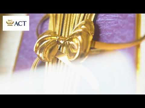 Tranh đóa hoa lan dát vàng (13x26cm)