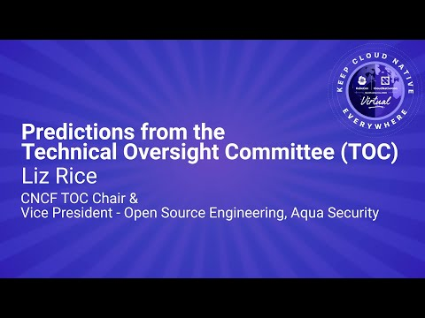 Image thumbnail for talk Keynote: Predictions from the Technical Oversight Committee (TOC)